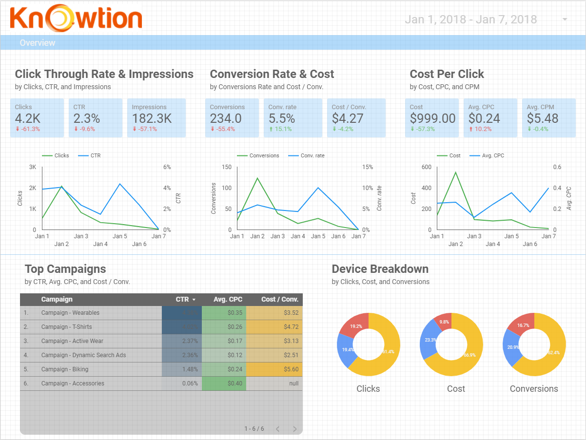 Custom Data Visualization by Knowtion