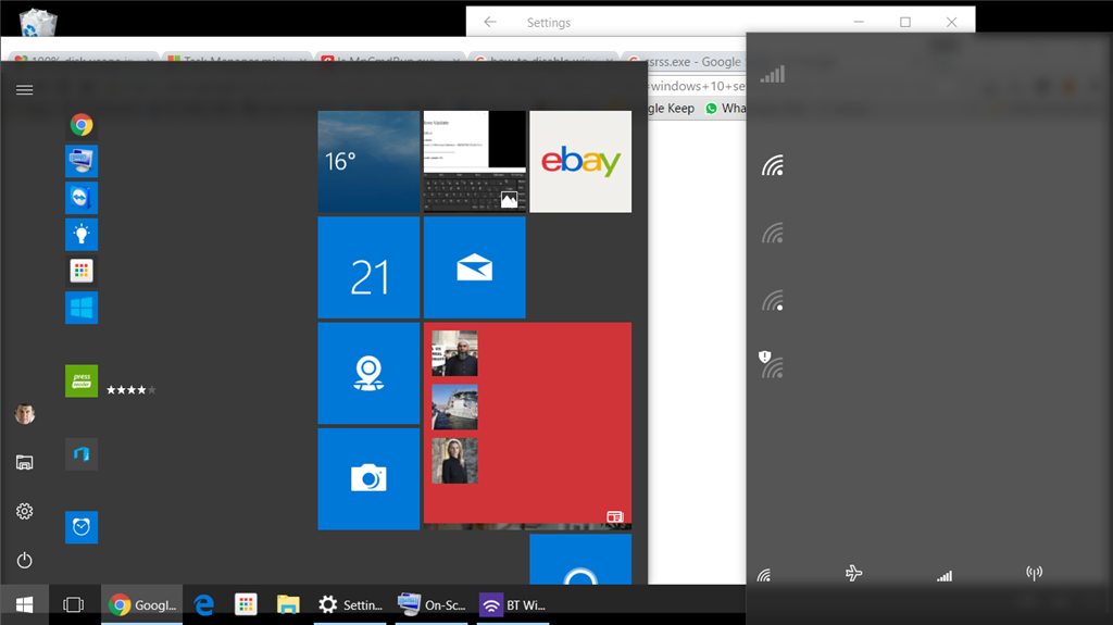 Win 10 Start Menu Corrupt Cortana Hangs No Text